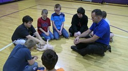 Sixth Grade Students Receive CPR Training