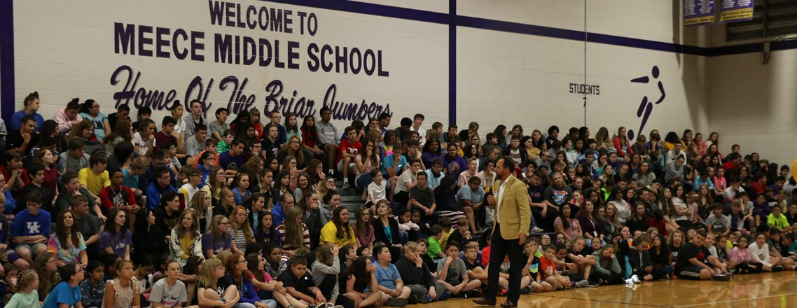 Greg Coker, motivational speaker, inspires MMS students