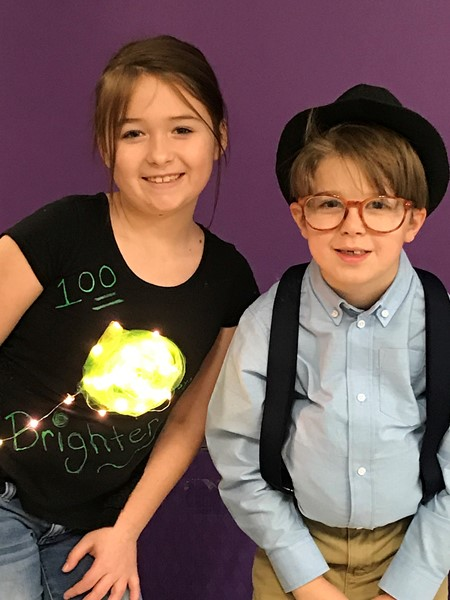 This pair shines bright on the 100th Day of School!