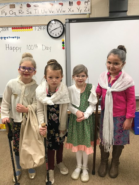 Ms. Moore's first grade girls have aged gracefully this year!