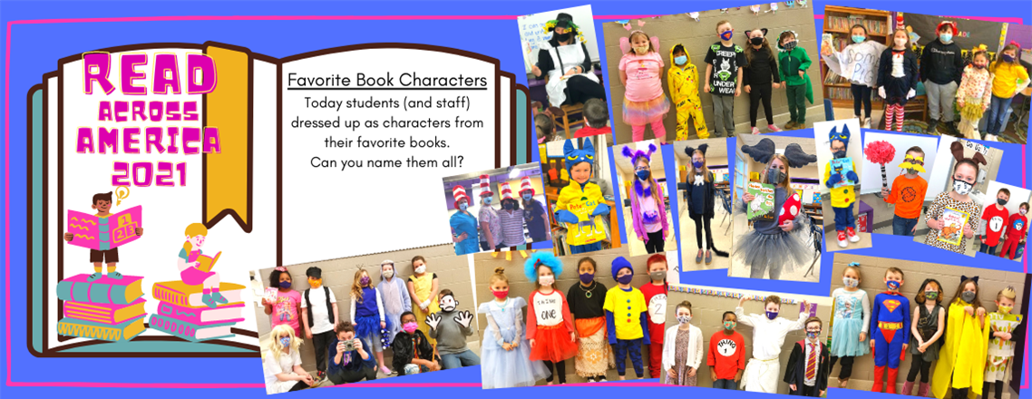 Read Across America 2021:  Favorite Book Characters