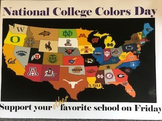 Wear your college colors