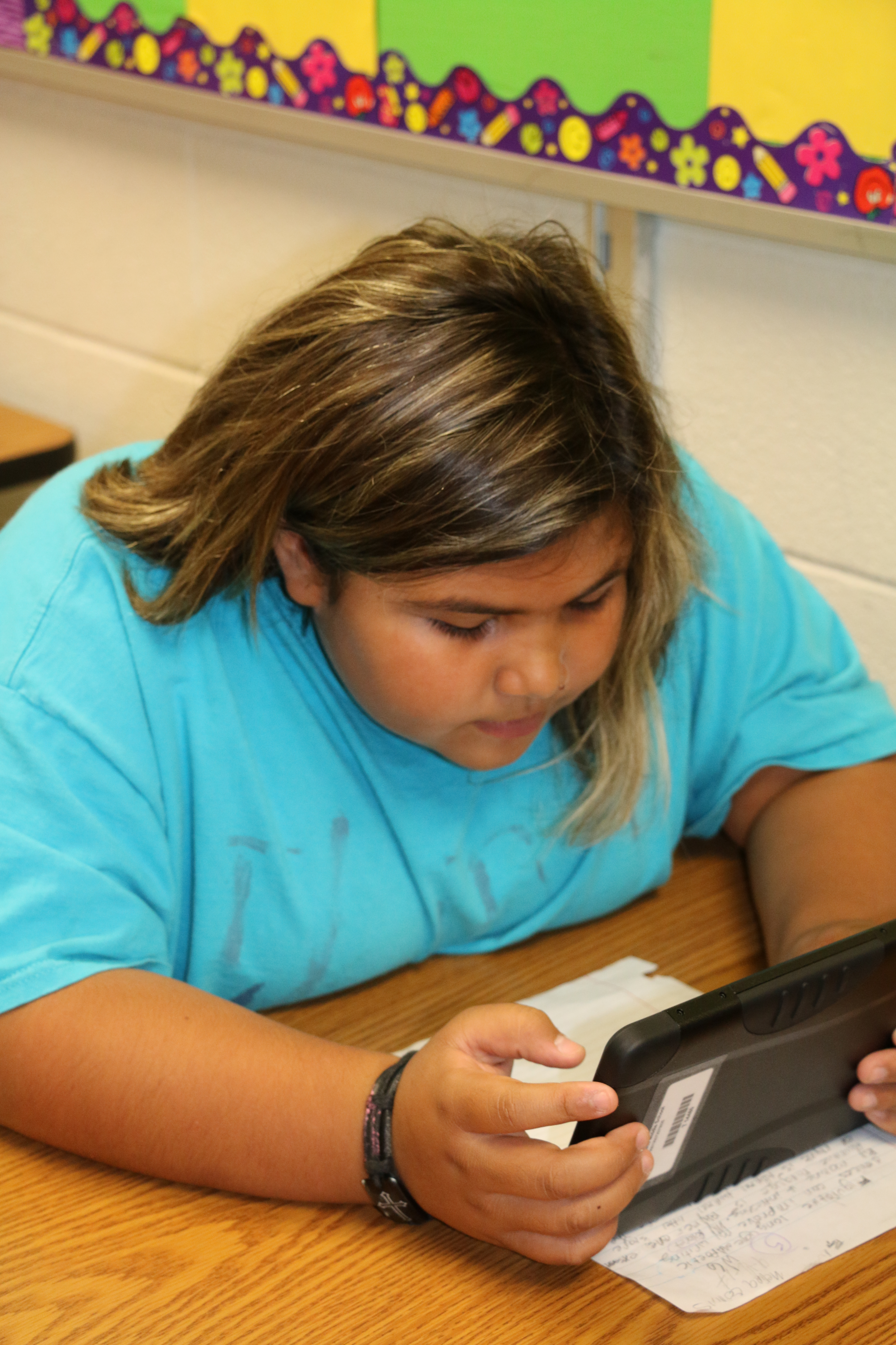 Student Using ZenPad Tablets