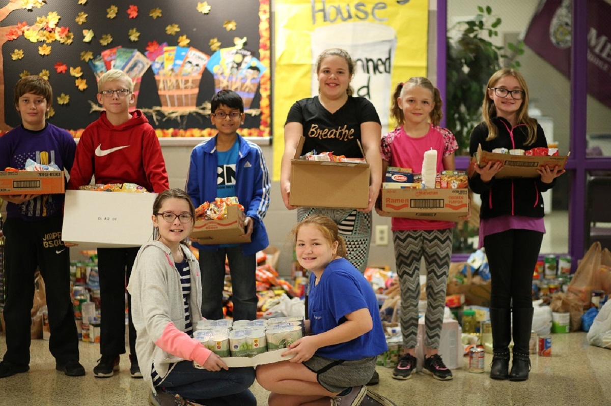 Meece Middle Collects Food for the Bethany House