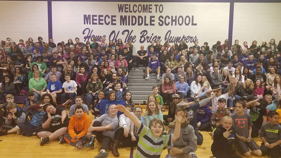Rex Chapman Visits Meece Middle School