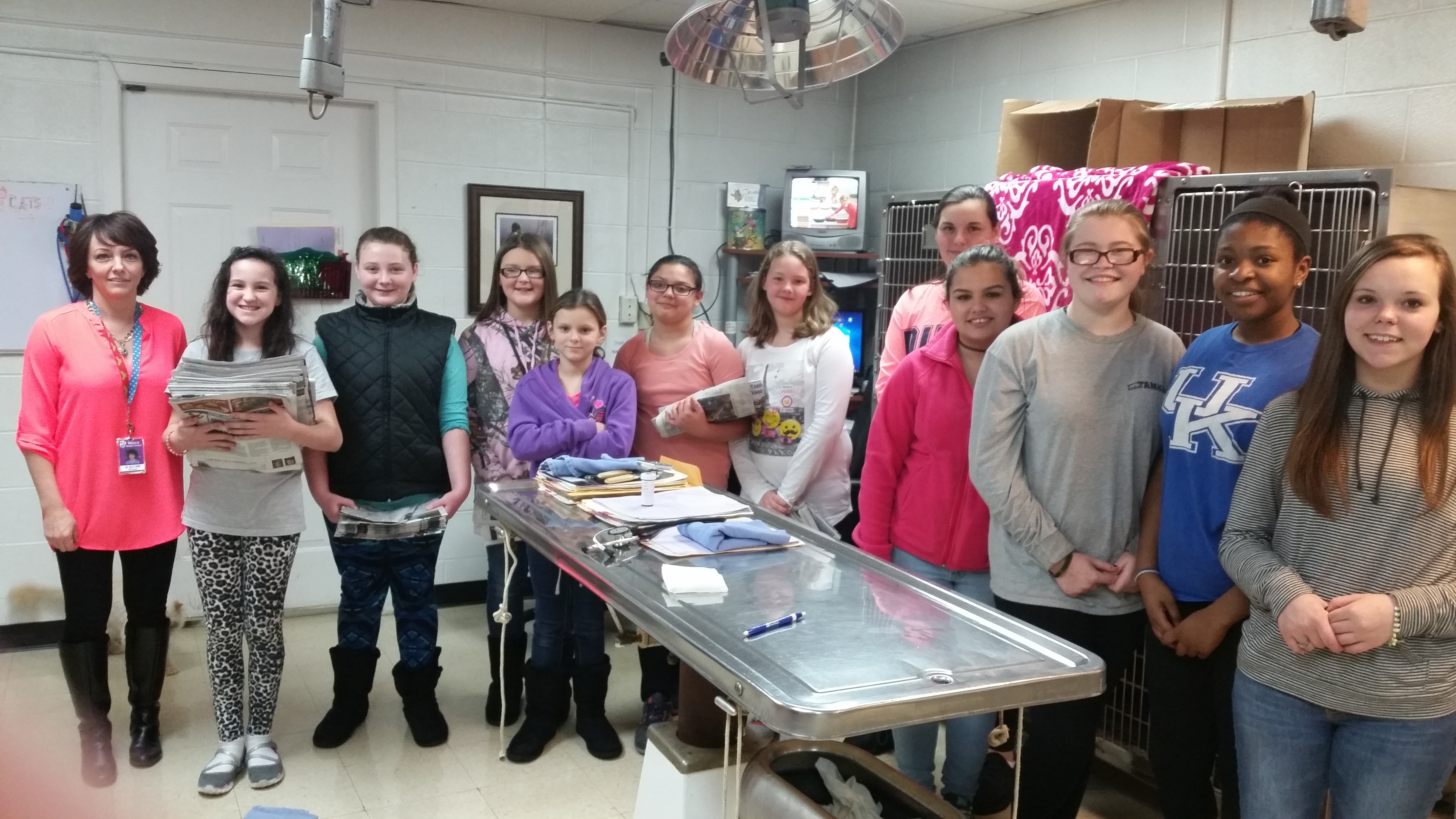 Vet Assistant Club Visits Somerset Animal Hospital