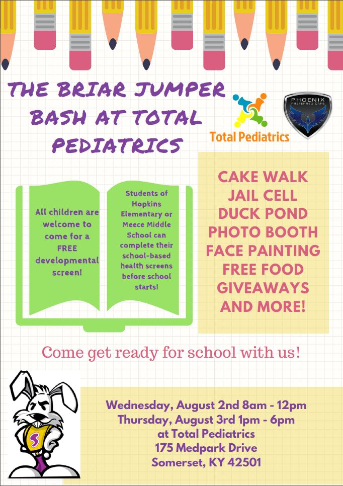 Flyer for Briar Jumper Bash