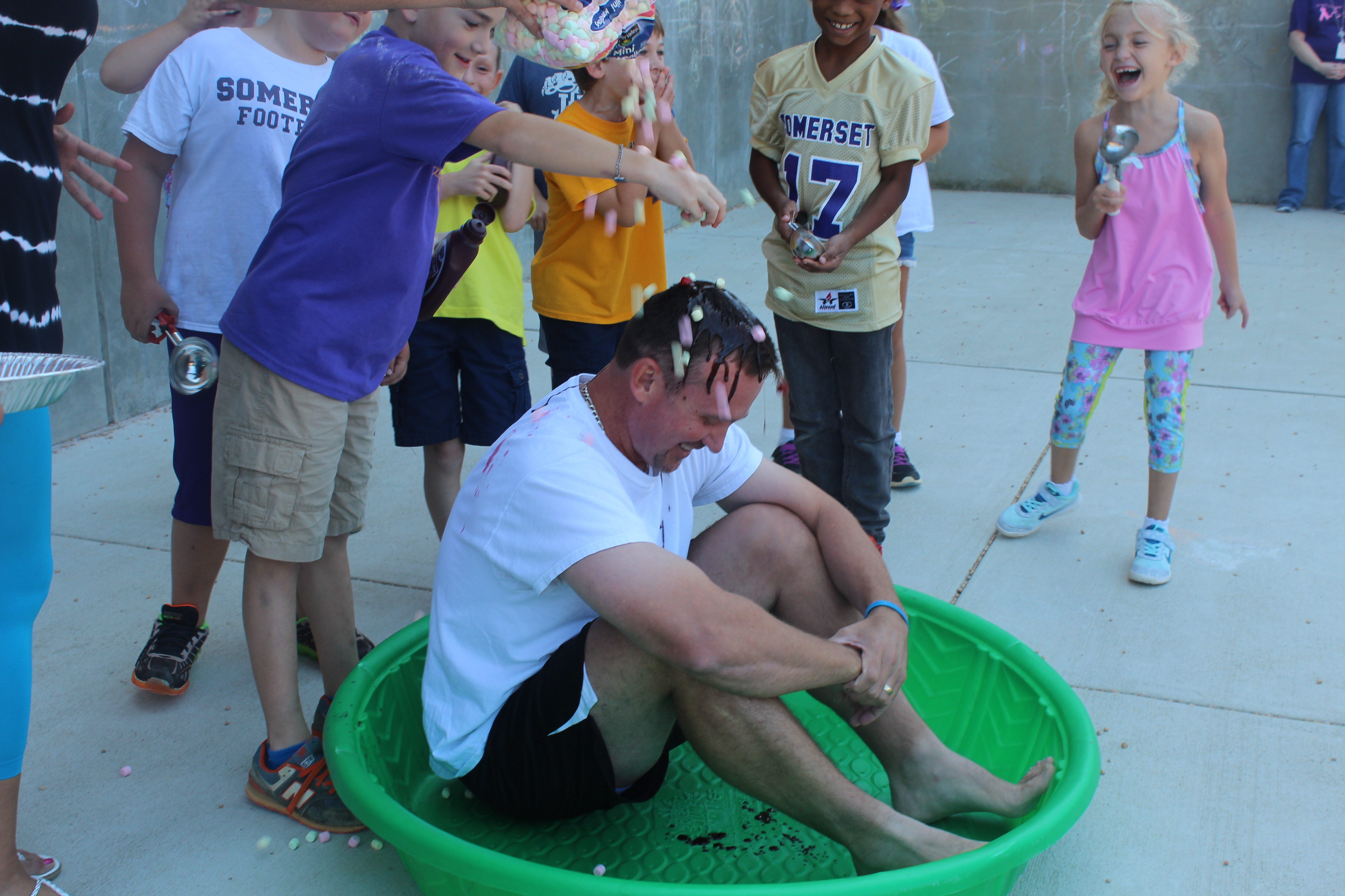 Mr. Reynolds becomes a Human Ice Cream Sundae!