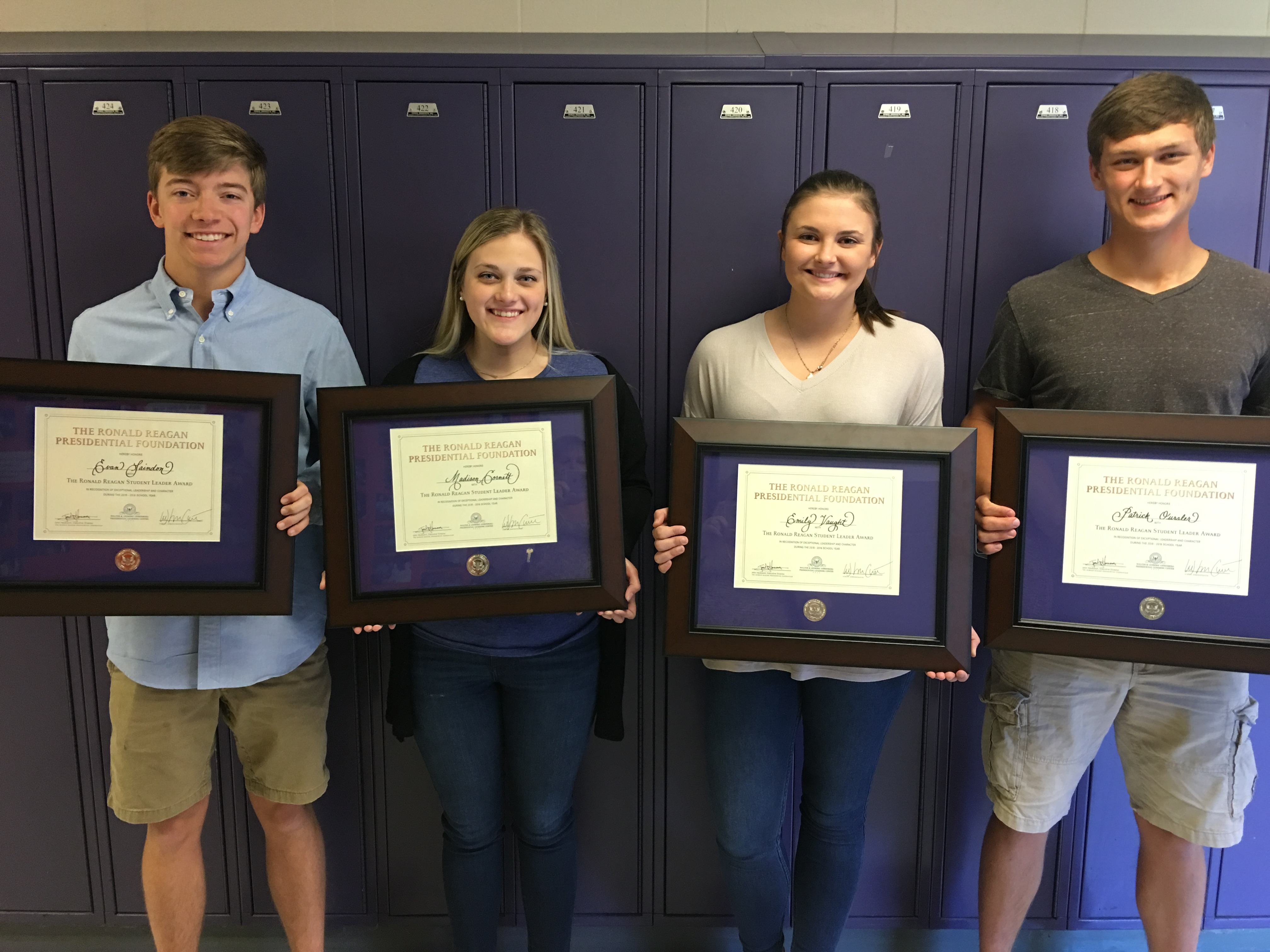 Four recognized by The Ronald Reagan Presidential Foundation