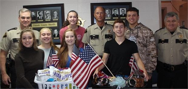 Students honor law enforcement and military