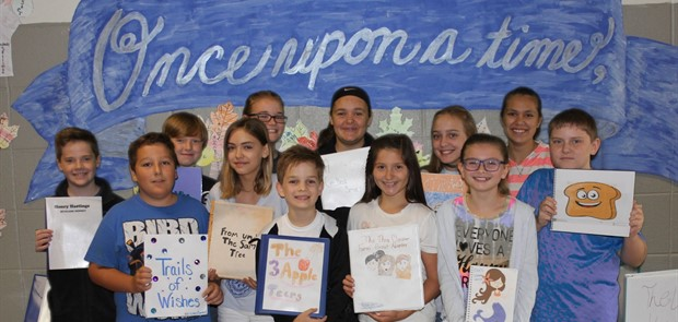 6th Grade student's created & presented their own fairy tale book
