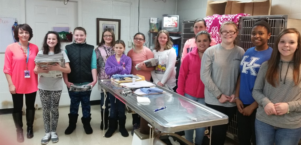 Veterinarian Assistant Club visits Somerset Animal Hospital