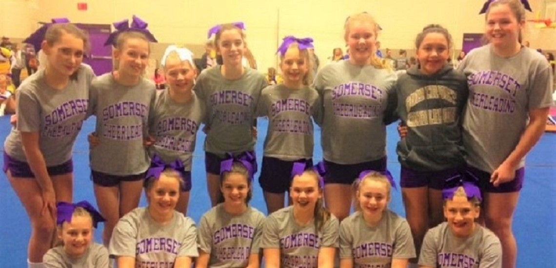 Nationally Competitive Middle School Cheer Team