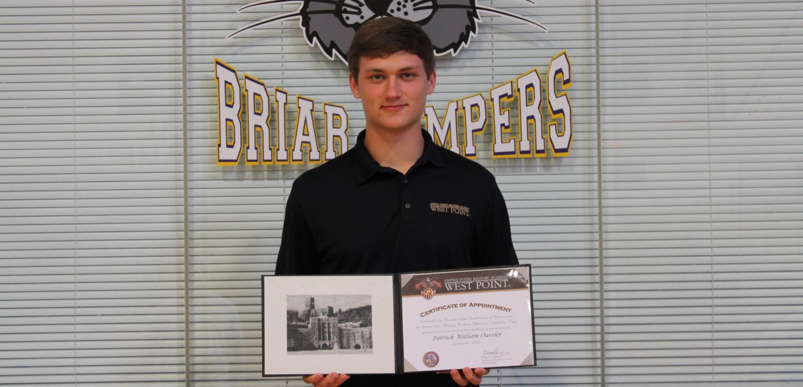 Patrick Oursler Accepted to West Point