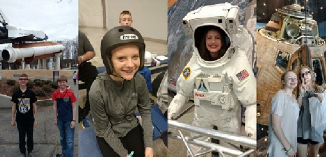 Meece Middle School students visit Space Camp in Huntsville, Alabama