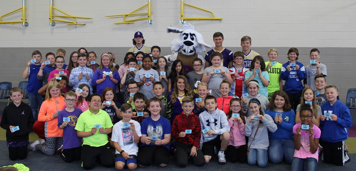 Cecil and several SHS students helped Hopkins' students celebrate K-PREP success from 2015-2016!