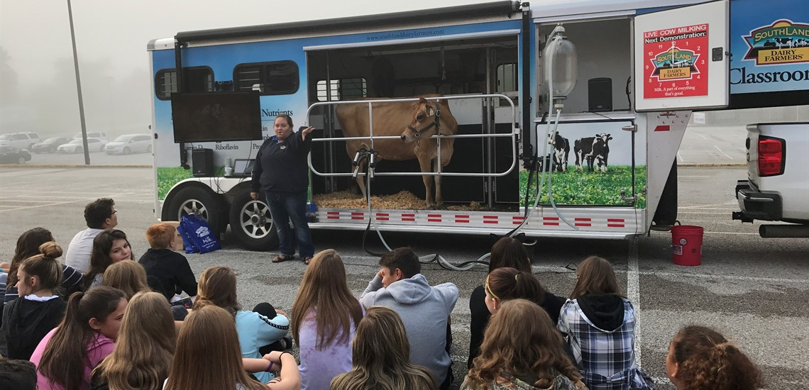 Students Learning about Dairy Production