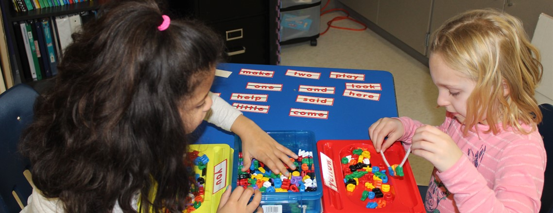 Lexi & Kaylee use a hands-on activity to build sight words!