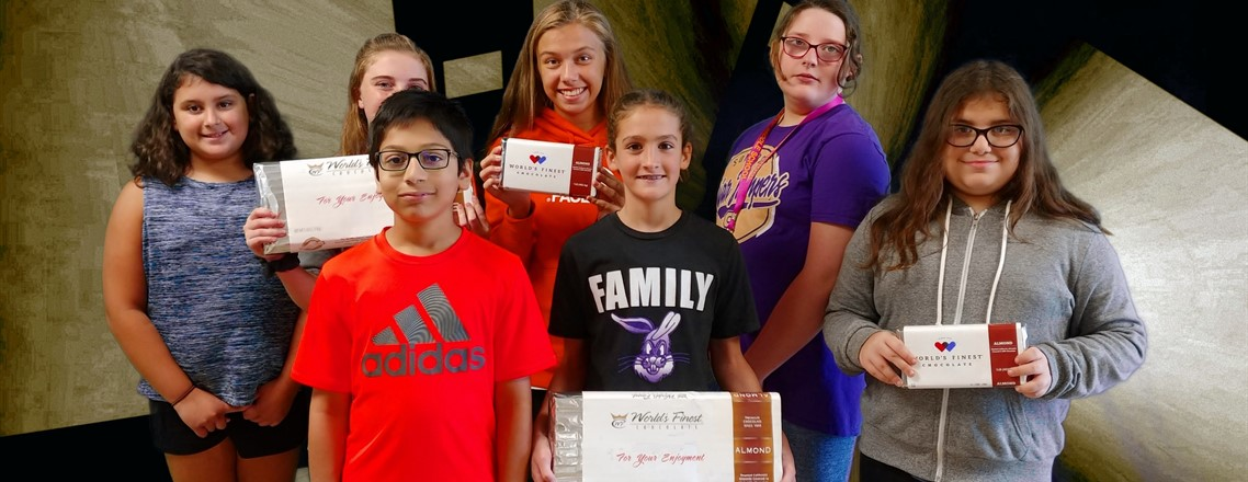 MMS Students WON a 1 lb. / 5 lbs. Bars of Chocolate in Fundraiser Event