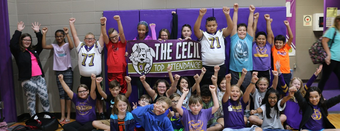 5th Grade Wins the August CECIL Attendance Award