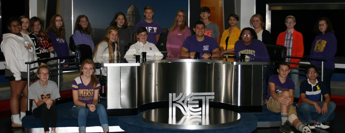 Sr. Schroer's Spanish classes visit Kentucky Educational Television (KET)