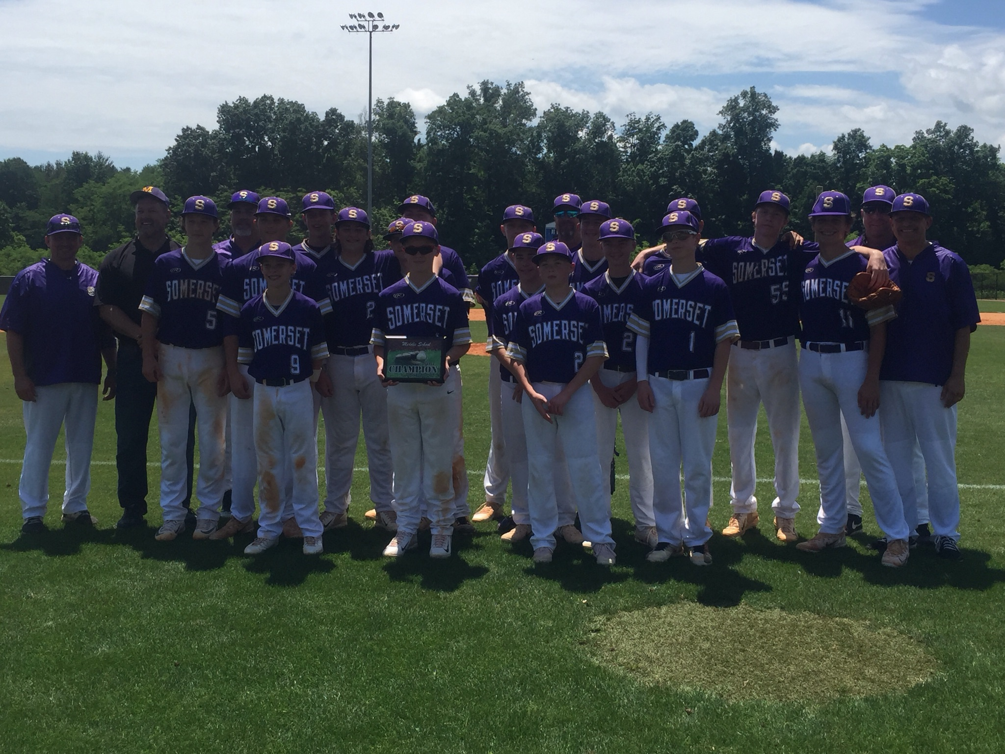 Middle School State Baseball Champions!